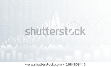 抽象的な · 金融 · グラフ · 行 · 棒グラフ · 株式市場 - ストックフォト © kyryloff