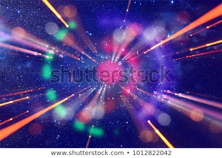 Stock photo: Space Shuttle over galaxy and space nebula.