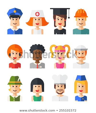 Internet Business Set of Male and Female Workers Stock photo © robuart