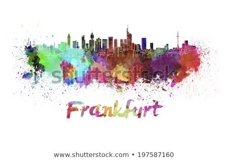 水彩画 スカイライン フランクフルト 実例 メイン ストックフォト © unkreatives