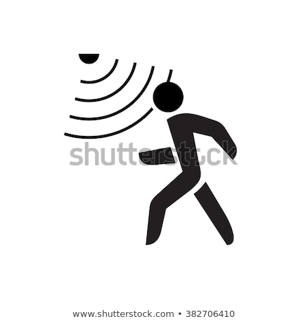 Movimiento sensor blanco detector aislado tecnología Foto stock © magraphics