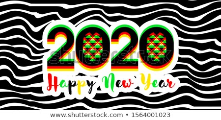 Modern multicolored numbers 2020 with stereoscopic effect Stock photo © ussr