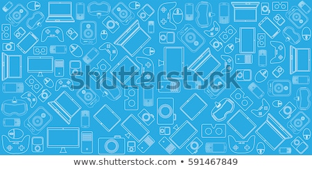 Smartphone Electronic Technology Monochrome Vector Stock photo © pikepicture