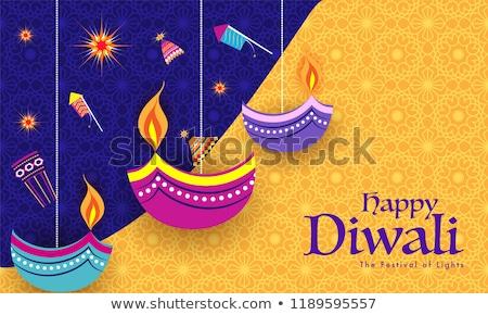 étnicas decorativo feliz diwali festival luz Foto stock © SArts