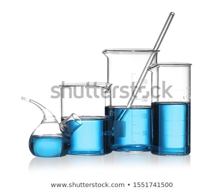 set of science equipments on white background stock photo © bluering