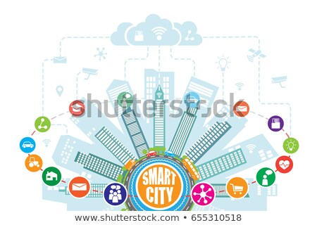Intelligent services in smart city concept vector illustration. Stock photo © RAStudio