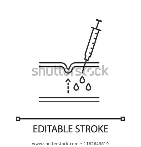 Subcutaneous Injection for Rejuvenation Icon Vector Outline Illustration Stock photo © pikepicture