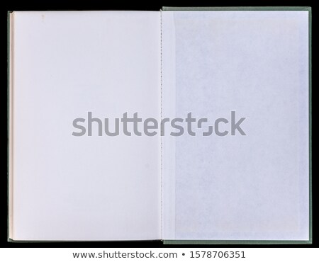 Blank book unfolded on the Endpapers. Stock photo © Photooiasson