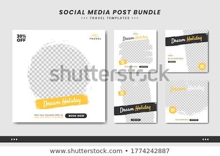 Wakacje czasu turystyki banner poziomy dwa Zdjęcia stock © -TAlex-