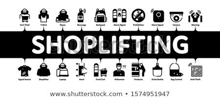 Banner vector web videocamera Stockfoto © pikepicture
