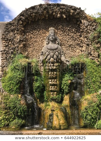 Water jets and fountains of the Villa d'Este in Tivoli. Stock photo © Zhukow