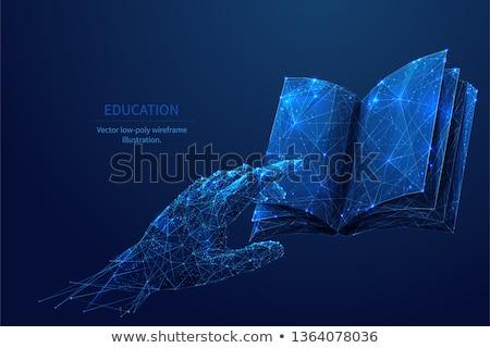 Elektronik kitap edebiyat çevrimiçi okuma vektör Stok fotoğraf © robuart