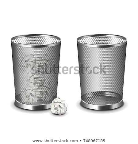Metal trash bin Stock photo © montego
