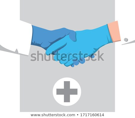 Shaking Hands In Gloves Stock photo © AndreyPopov