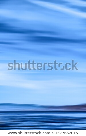 Abstract ocean wall decor background, long exposure view of drea Stock photo © Anneleven