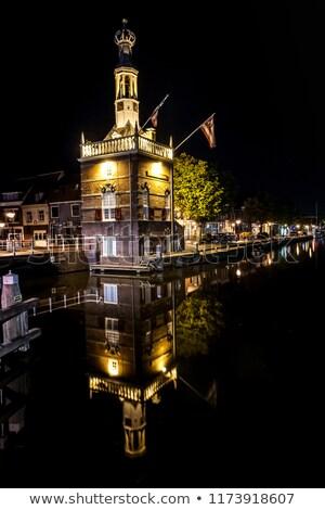 Stad detail Nederland gebouw reizen architectuur Stockfoto © phbcz