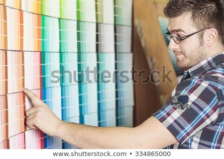 Ferragens armazenar cliente compras projeto homem Foto stock © Lopolo