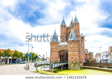 Pays-Bas vieux ville porte ciel bleu Photo stock © borisb17