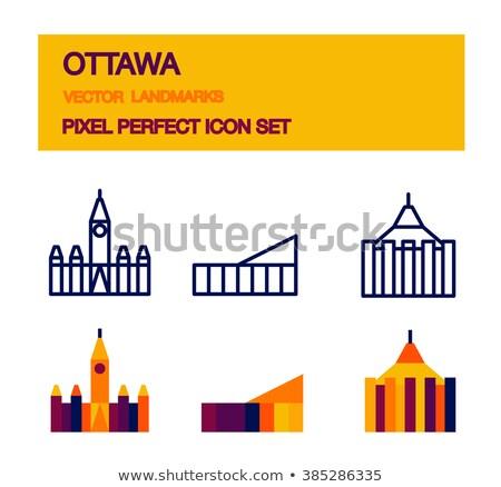 Parlamento edifício Otawa Canadá Foto stock © ShustrikS
