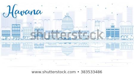Hawana panoramę niebieski budynków Zdjęcia stock © ShustrikS