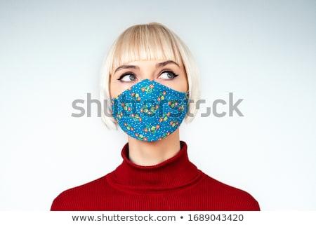 Girl sewing DIY masks  Stock photo © ayelet_keshet