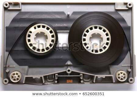 Detailed audio cassette with magnetic tape, vintage object isolated on white Stock photo © evgeny89