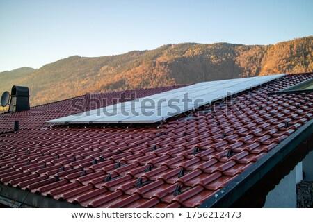 Telha telhado montanha Áustria alternativa Foto stock © artjazz