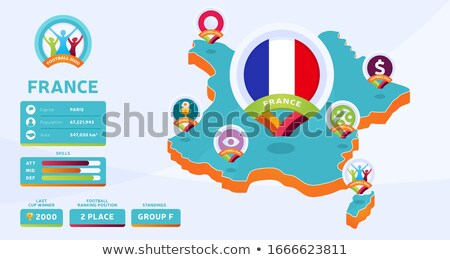 France Country Travel Isometric Icons Set Vector Stock photo © pikepicture