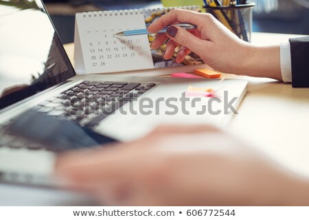 Calendario fechas trabajo organización de trabajo proceso Foto stock © robuart