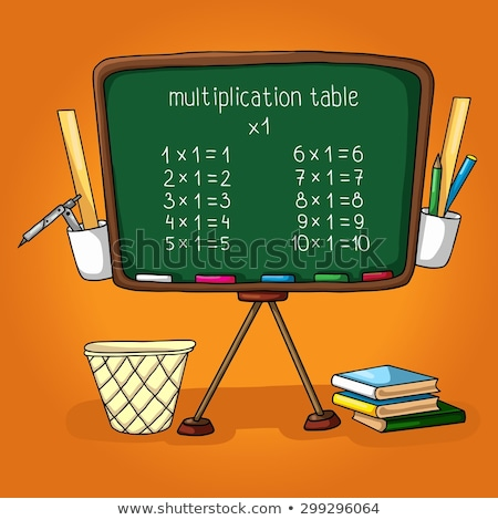 Practice the multiplication table with a pencil Stock photo © johnkwan