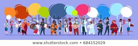 Desenho animado diferente serviço pessoas do grupo Foto stock © Voysla