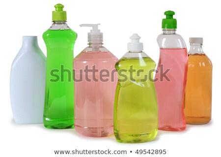 Diferente colorido produtos de limpeza muitos garrafas fundo Foto stock © elly_l
