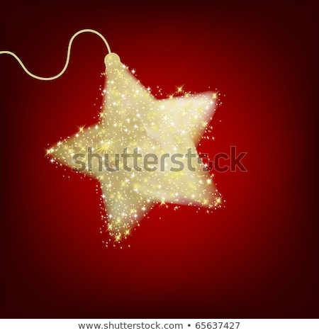 Postcard with a twinkling red star. EPS 8 Stock photo © beholdereye