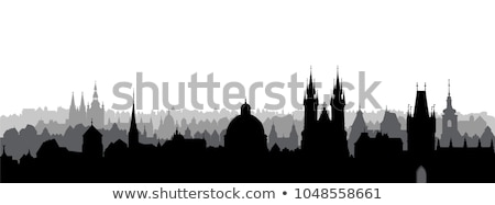 Skyline Prag stock photo © unkreatives