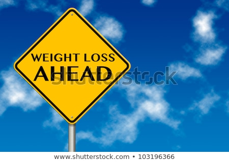 Stock photo: Weight Loss Highway Sign