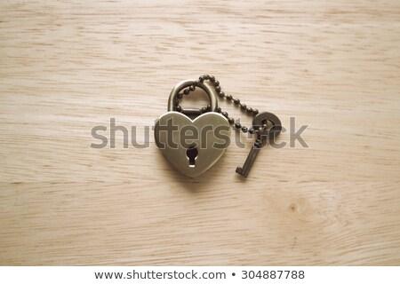 Coeur clé Romance ouvrir icône illustration Photo stock © adrian_n