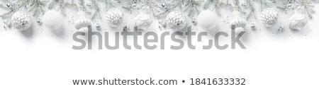 karácsony · illusztráció · fényes · üveg · labda · hópelyhek - stock fotó © orson