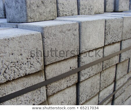 stacked square  pavement tiles with metal ribbon to keep them to Stock photo © Melvin07