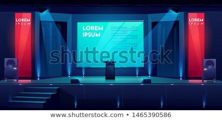 Stock photo: Ready for press conference