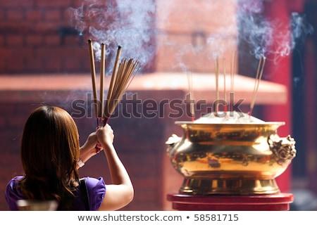 Tütsü yanan Çin tapınak Malezya Stok fotoğraf © travelphotography