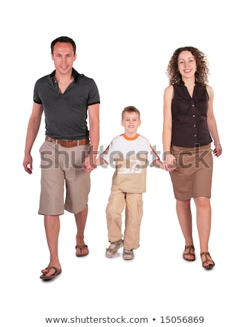 father,  son and mother go having joined hands Stock photo © Paha_L