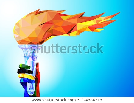 Olympic torch with flame Stock photo © m_pavlov
