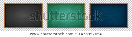 chalkboard blackboard in green stock photo © maridav
