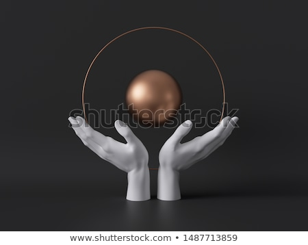 ball of clairvoyance in the hand Stock photo © njaj