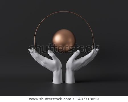 Pelota mano manos futuro cristal meditación Foto stock © njaj