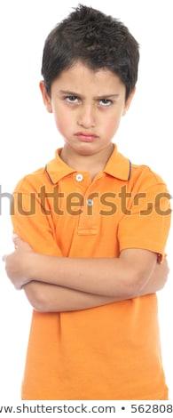 портрет · мальчика · лице · крест · молодые · молодежи - Сток-фото © iofoto