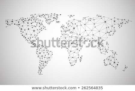 Foto stock: Social Media World Map Vector