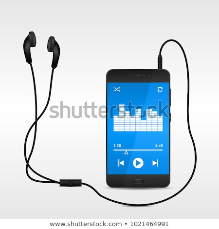 Earbuds next to MP3 Player Stock photo © mybaitshop