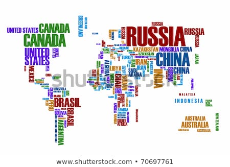 Australia Word Cloud Map Stock photo © mybaitshop