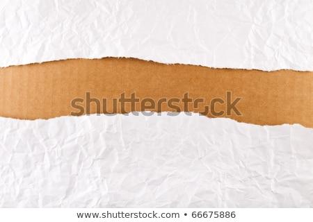 引き裂かれた紙 · ストリップ · 段ボール · 紙 · テクスチャ · 抽象的な - ストックフォト © lightkeeper
